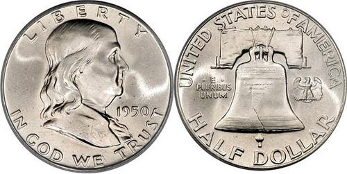 Franklin Half Dollar Brilliant Uncirculated