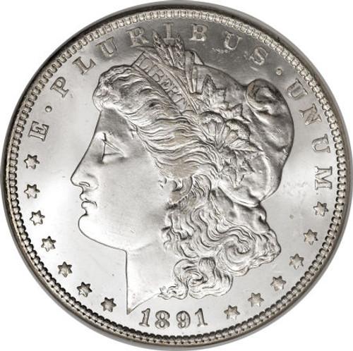 1891 Morgan Silver Dollar (XF to AU condition)