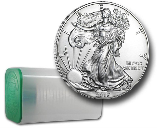 2017 American Eagle Silver Dollar with U.S. Mint tube  (also known as Mint Roll)