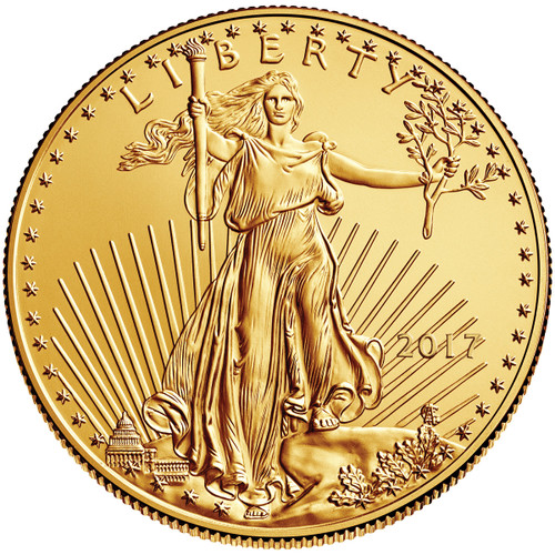 2017 Five Dollar ($5) American Gold Eagle obverse