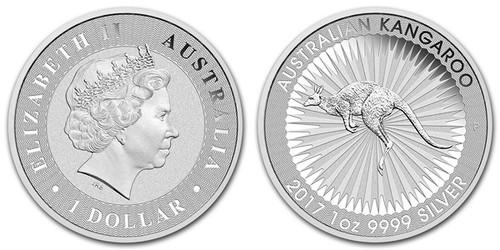 2017 Australian Kangaroo Silver obverse and reverse