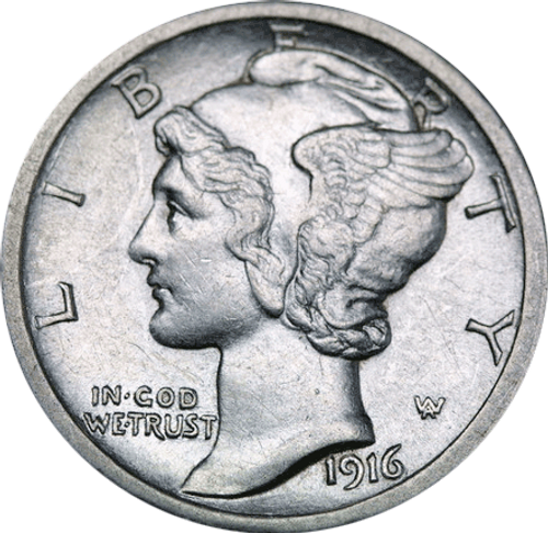 Mercury Head Dime