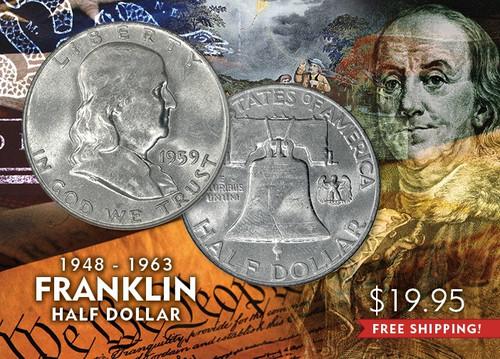 Franklin Half Dollar- Brilliant Uncirculated