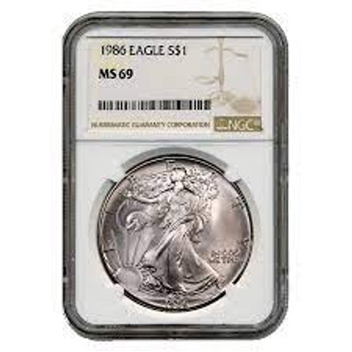 1986 to 2021 Silver Eagle Series MS69