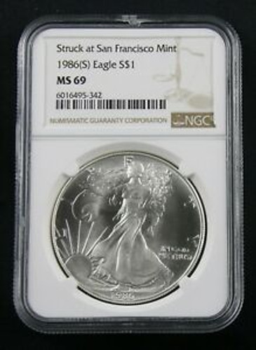 1986 (S) and 1987(S) American Silver Eagle MS69