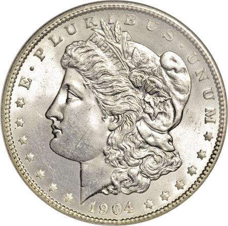 1904 O $1 Morgan Silver Dollar US Coin AU About Uncirculated