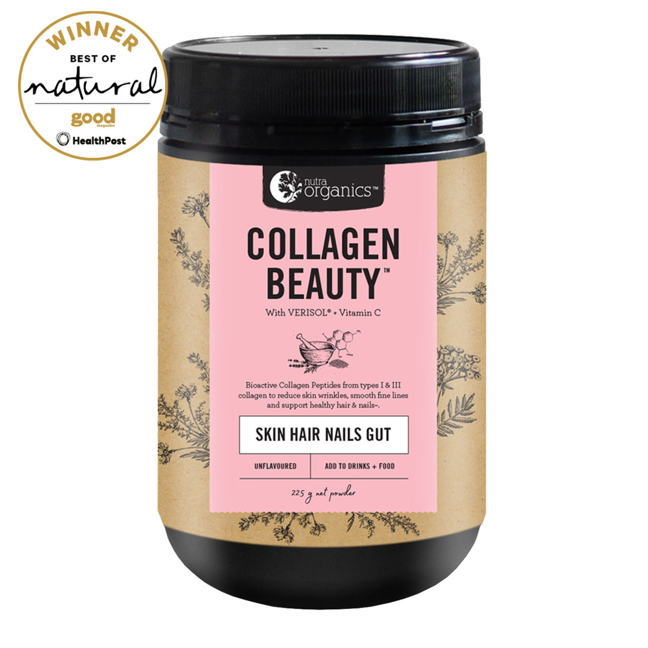 Nutra Organics Collagen Beauty With Verisol +C