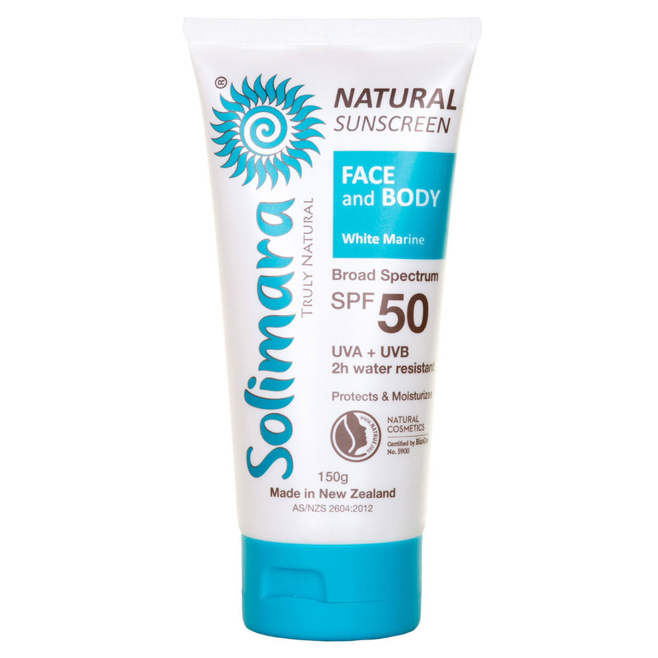 Solimara Truly Natural Natural Sunscreen Face & Body SPF 50 White Marine