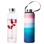 Glass is Greener Bottle + Carry Cover - Peace Print