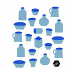 Compostable Dishcloth - Blue Vessels
