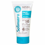 Natural Sunscreen Face and Body SPF 50 White Marine