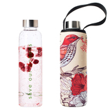 Glass is Greener Bottle + Carry Cover - Bird Print