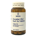 Cinnabar 20x / Pyrit 3x (Sore Throats)