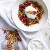 Homemade Honey and Raspberry Granola