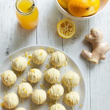 Lemon, Ginger And Mānuka Honey Truffles
