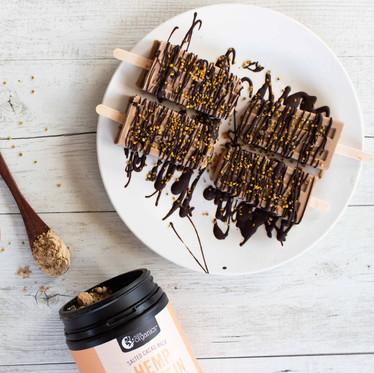 Salted Cacao Hemp Ice Pops