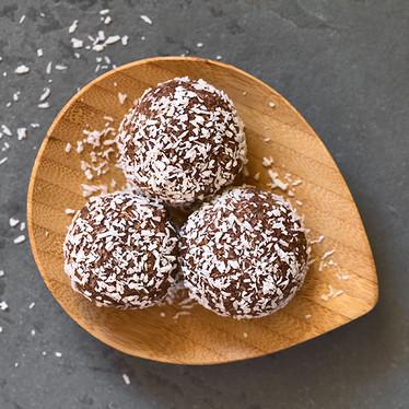 Cacao Bliss Balls & Matcha Coconut Slice Recipes