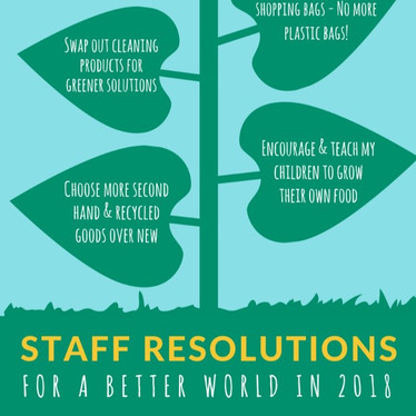 Staff Resolutions for a Better World in 2018