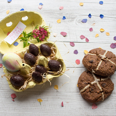 Paleo Hot Cross Buns and Cashew Cream Filled Easter Eggs
