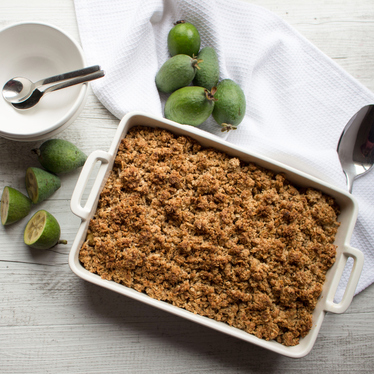 Feijoa & Apple Crumble Recipe