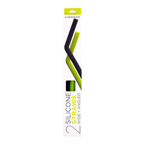Silicone Straws - Lime & Navy