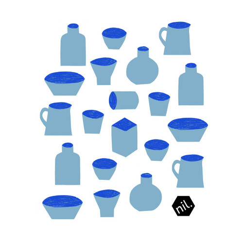Compostable Dishcloth - Blue Vessels