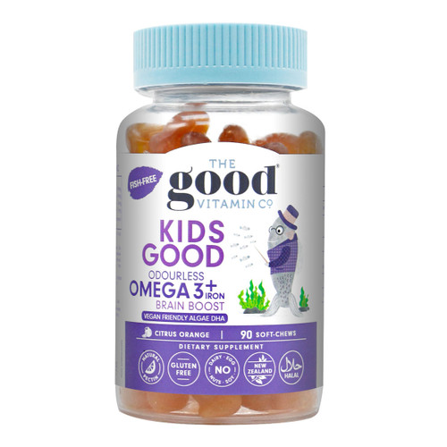 Kids Good Odourless Omega 3 + Iron Brain Boost Algae DHA