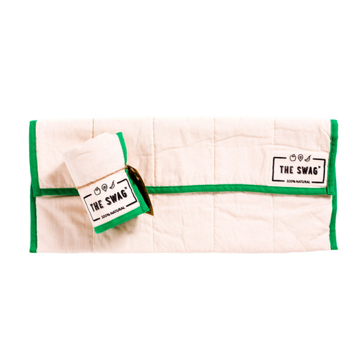 The Long Swag - Green Trim