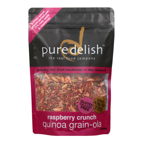 Raspberry Crunch Quinoa Grain-ola
