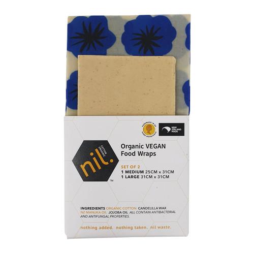 Vegan Food Wraps - Blue Flower