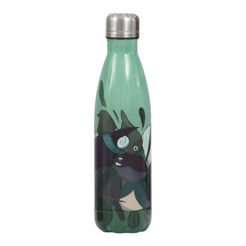 Birds of NZ Stainless Steel Water Bottle - Malangeo