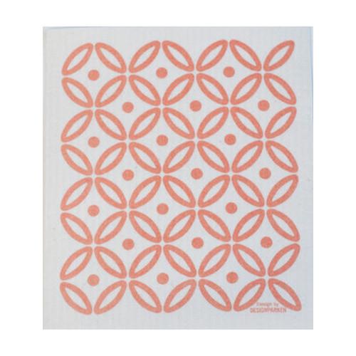 Art Deco Dish Cloth - Coral