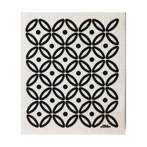 Art Deco Dish Cloth - Black