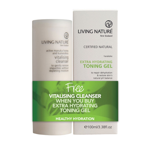 Vitalising Cleanser & Extra Hydrating Toning Gel Pack