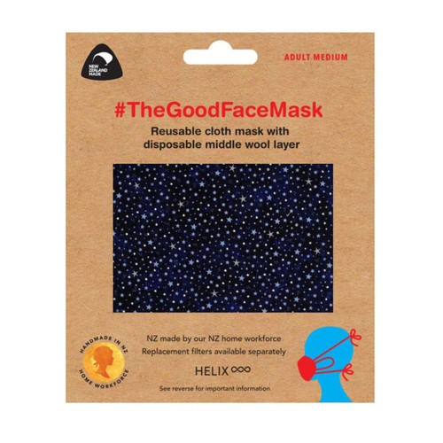 The Good Facemask - Adult Blue Stars