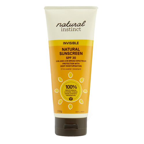 Invisible Natural Sunscreen SPF 30