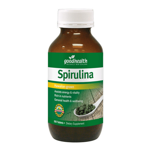 Spirulina 500mg Tablets - Hawaiian grown