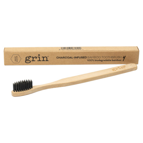 Charcoal-Infused Bamboo Toothbrush