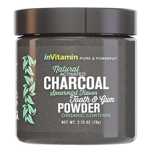 Natural Activated Charcoal Tooth & Gum Powder - Spearmint