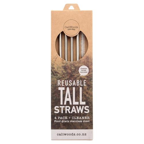 Reusable Tall Metal Straws
