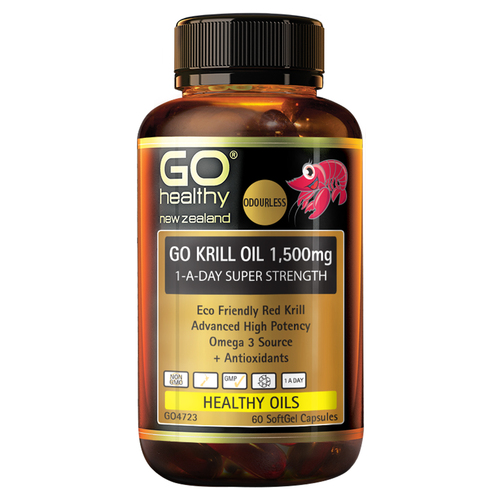 Go Krill Oil 1,500mg 1-A-Day Super Strength