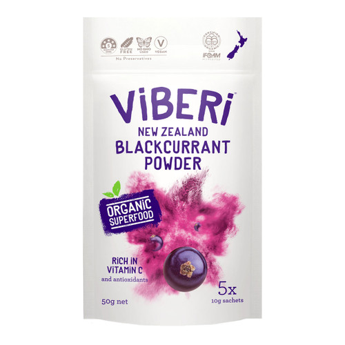 Organic New Zealand Blackcurrant Powder