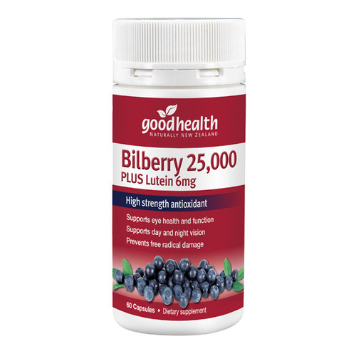 Bilberry 25,000 + Lutein 6mg
