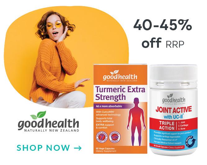 Good Health Save 45-50% Off RRP