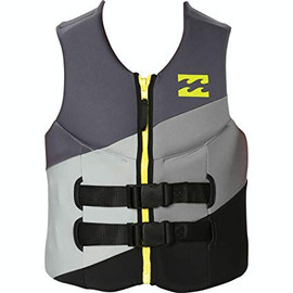 Billabong Men's Slice Usa Cga Front Zip Wake Vest Black Small