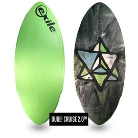 Exile Custom Double Carbon Fiber Expoy Double Dagger Skimboard