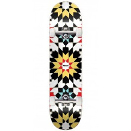 Almost Tile Pattern Logo HYB Skateboard Deck - White - 8.00""