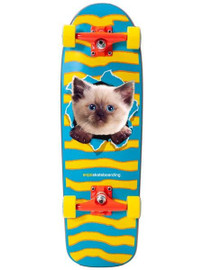 "Enjoi Kitten Ripper Youth Resin Soft Top Skateboard Complete - Multi - 8.25"""