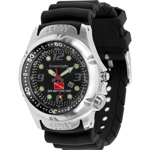 Freestyle Hammerhead Analog Display Japanese Quartz Black Watch