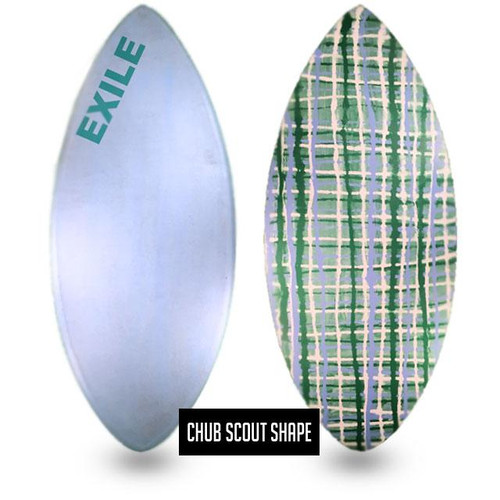 Exile Custom Double Carbon Fiber Expoy Chub Scout Skimboard